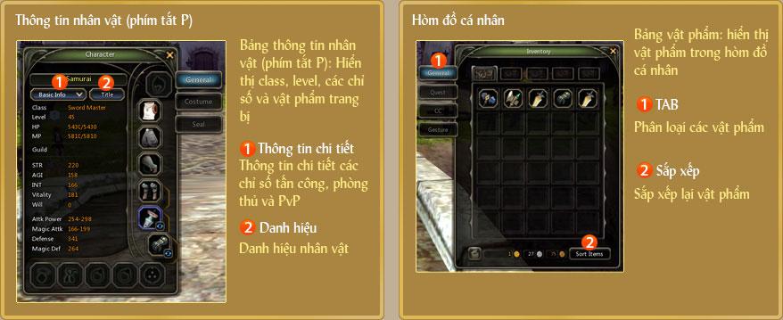 Làm quen với giao diện game Dragon Nest 1