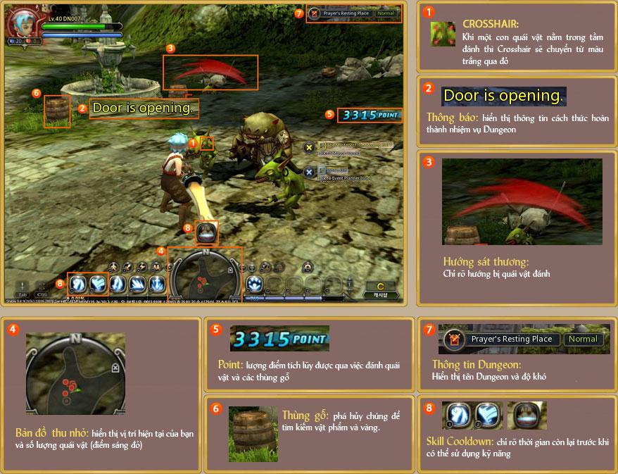 Làm quen với giao diện game Dragon Nest 3