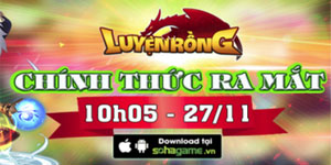 Tặng 320 giftcode game Luyện Rồng