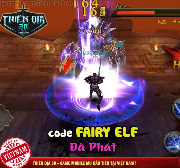 Tặng 515 giftcode Thiên Địa 3D 1