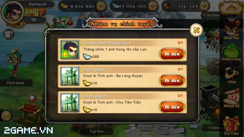 Tân Võ Lâm: Hướng dẫn làm nhiệm vụ chính tuyến 1