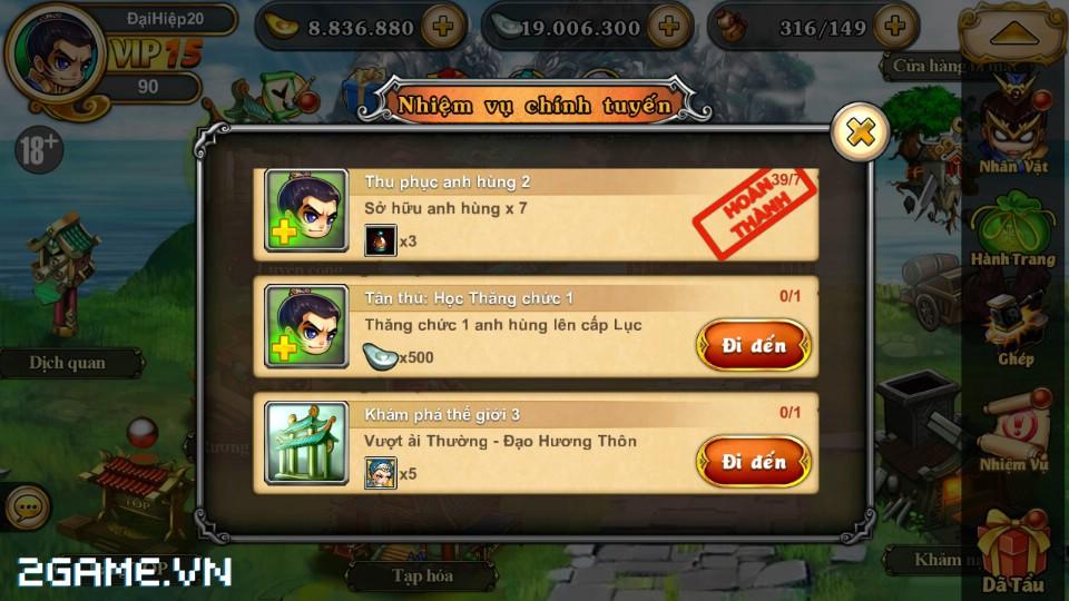 Tân Võ Lâm: Hướng dẫn làm nhiệm vụ chính tuyến 2