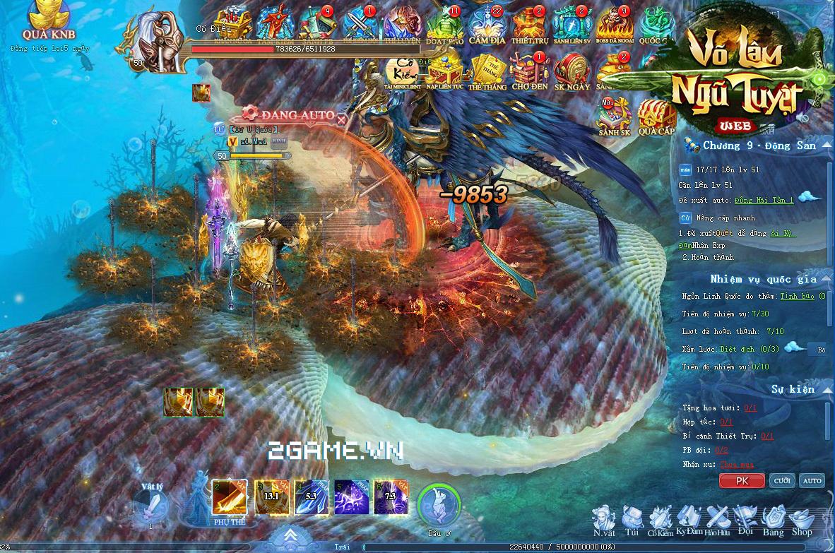 Võ Lâm Ngũ Tuyệt khoe mẽ đồ họa và gameplay siêu xịn trên nền web 0
