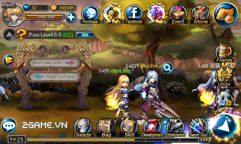 Thần Thoại mobile là tên Việt hóa của game Sword Of Soul 1