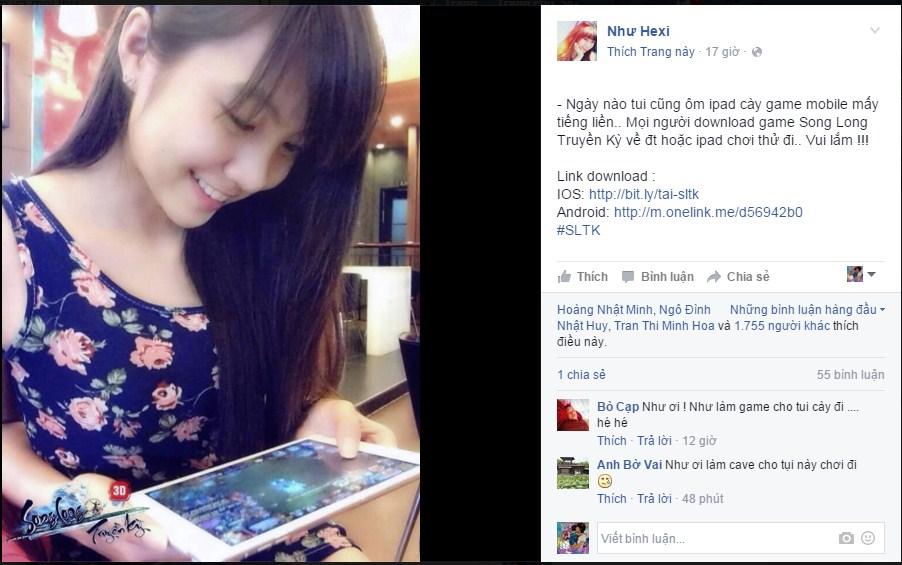 Hotgirl Như Hexi và BM Junie phát cuồng vì Song Long Truyền Kỳ Mobile 0