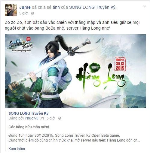 Hotgirl Như Hexi và BM Junie phát cuồng vì Song Long Truyền Kỳ Mobile 6