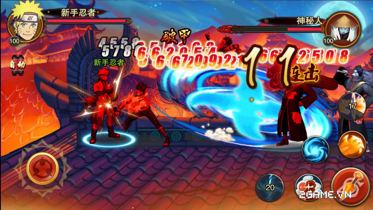Lối chơi hành động hấp dẫn trong Huyền Thoại Naruto 1
