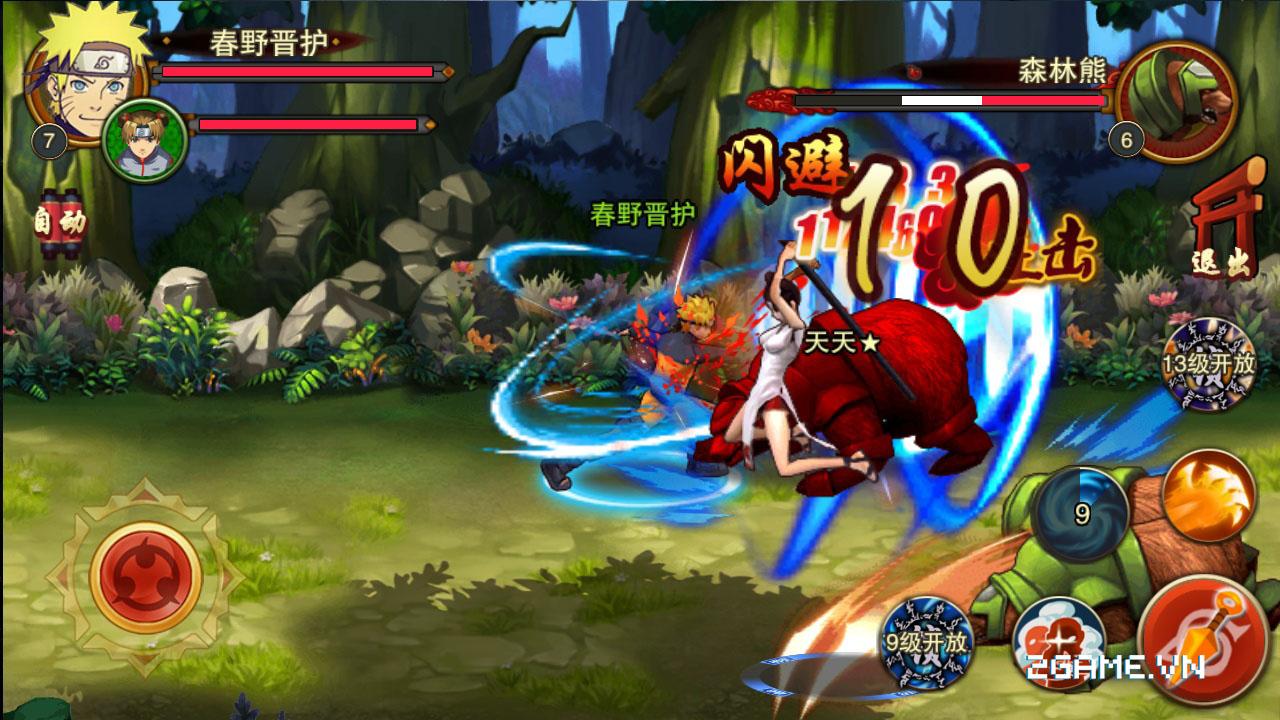 Lối chơi hành động hấp dẫn trong Huyền Thoại Naruto 2