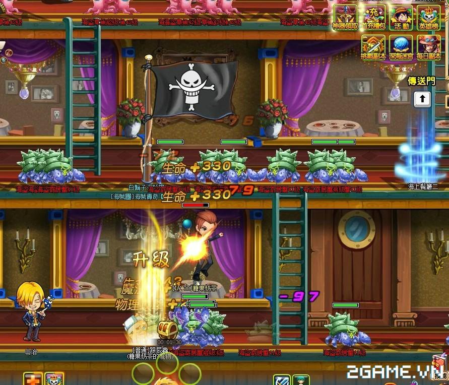 One Piece ZeZe - Chơi Vua Hải Tặc phong cách nhập vai màn hình ngang 8