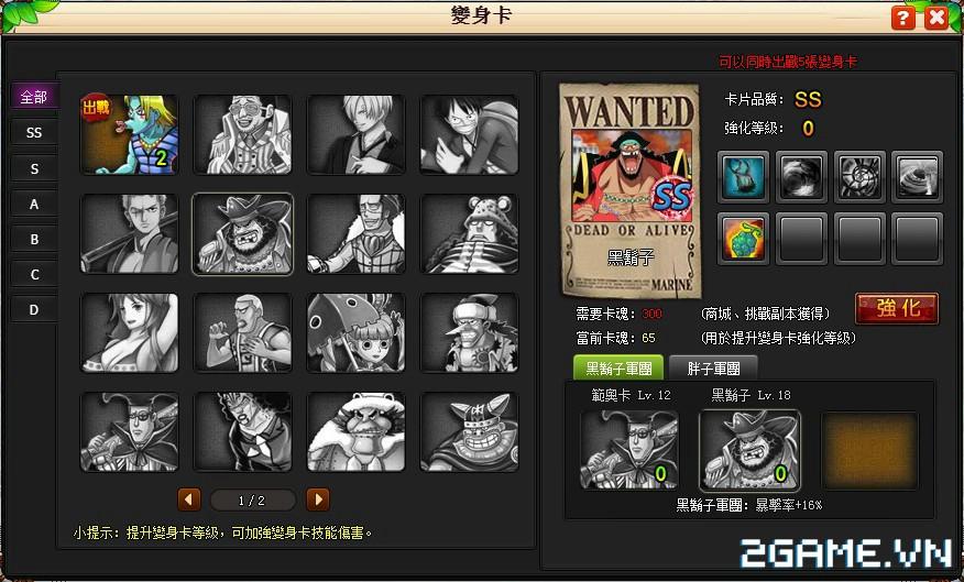 One Piece ZeZe - Chơi Vua Hải Tặc phong cách nhập vai màn hình ngang 9