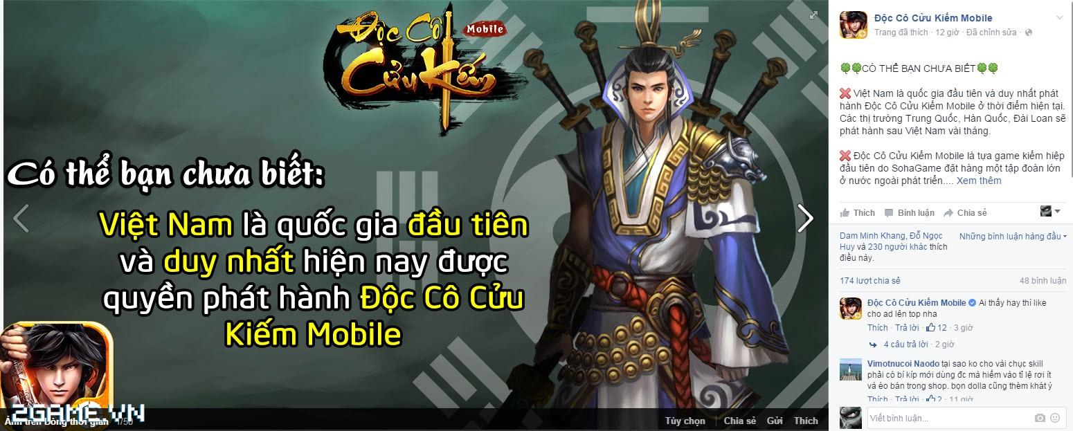 Việt Nam là quốc gia đầu tiên được chơi Độc Cô Cửu Kiếm Mobile 4