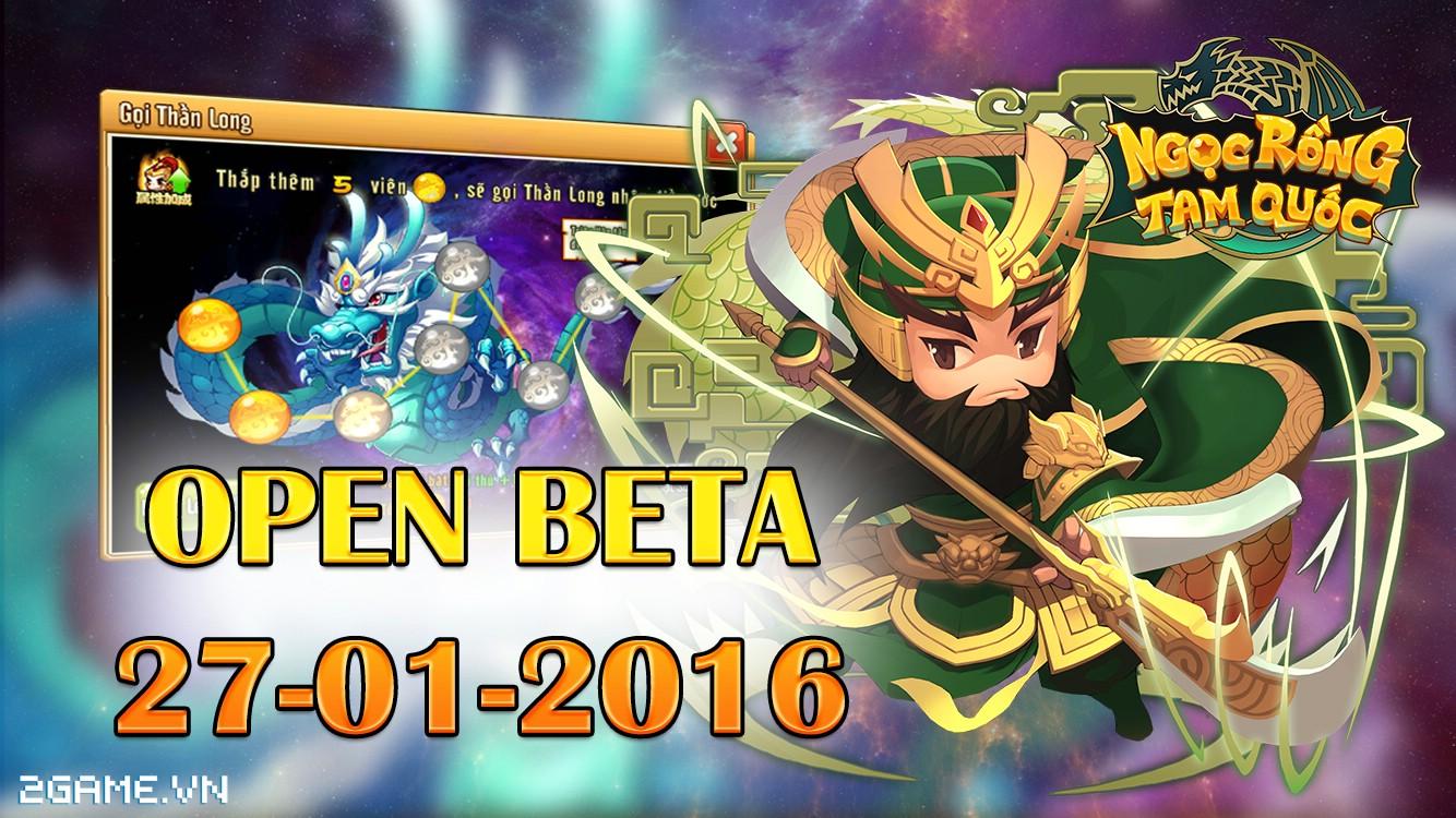 Ngọc Rồng Tam Quốc chuẩn bị Open Beta, mở thêm server mới Quan Vũ 0
