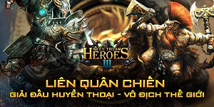 Tặng 445 giftcode game Huyền Thoại Heroes III