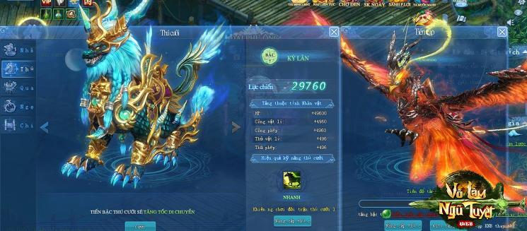 Võ Lâm Ngũ Tuyệt tiết lộ về sức mạnh của thú cưỡi và cánh 3