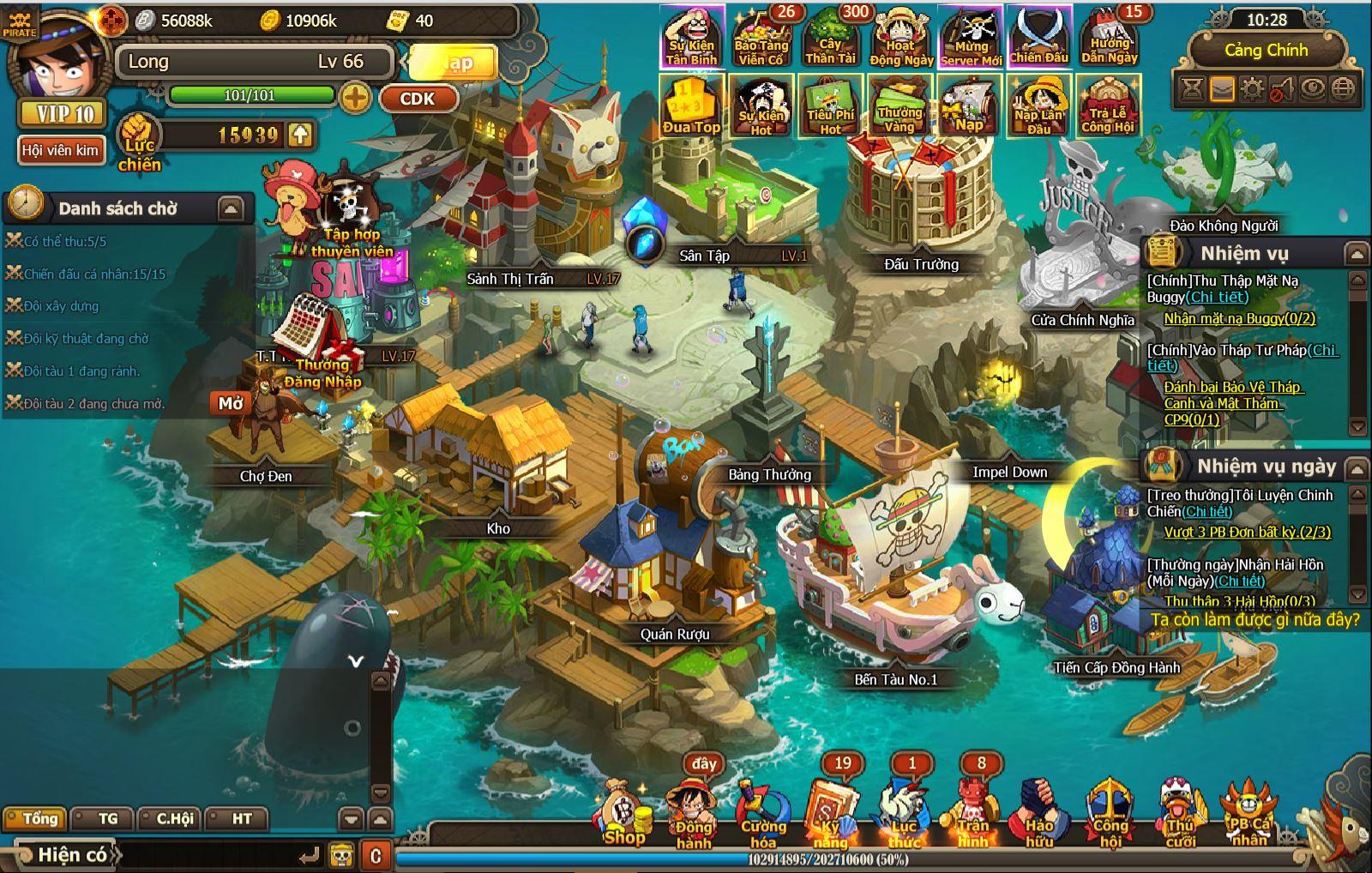 Đại Hải Trình – Tuyệt phẩm game manga dành riêng cho fan One Piece 4