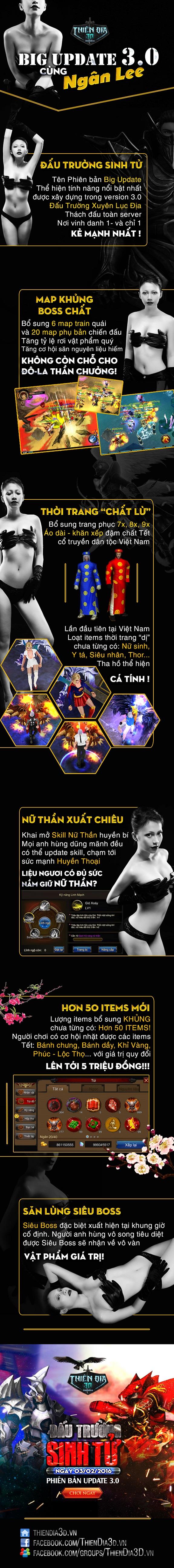 Ngắm Admin Thiên Địa 3D hóa Lady Gaga giới thiệu Big Update 1