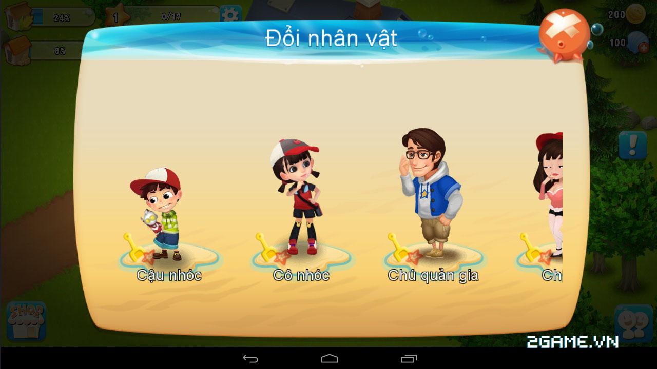 Chạm vào game Vườn Vui Vẻ 3V bản Việt hóa 4