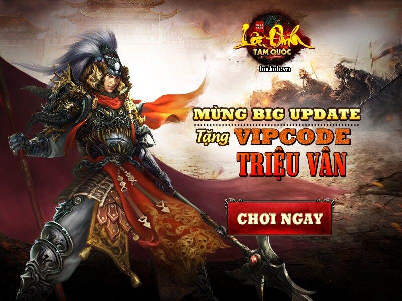 Tặng 215 giftcode game Lôi Đình Tam Quốc 1
