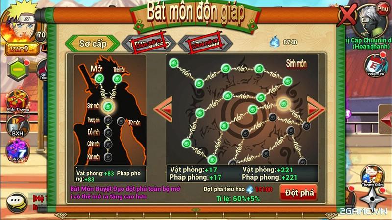 Huyền Thoại Naruto là tên Việt hóa của game mobile Dũng Sĩ Cuồng Phong 12