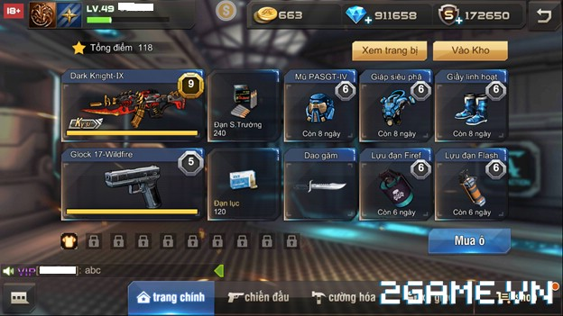 Tập Kích Mobile - Giao diện trang bị, nhiệm vụ, chiến đấu 1