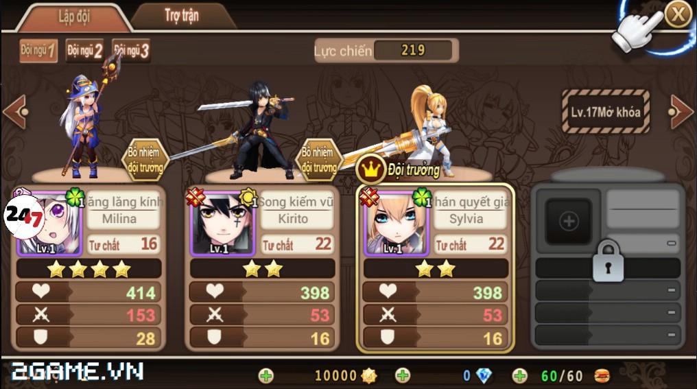 Đế Chế Manga có cơ chế chiến đấu theo lượt cao độ 5