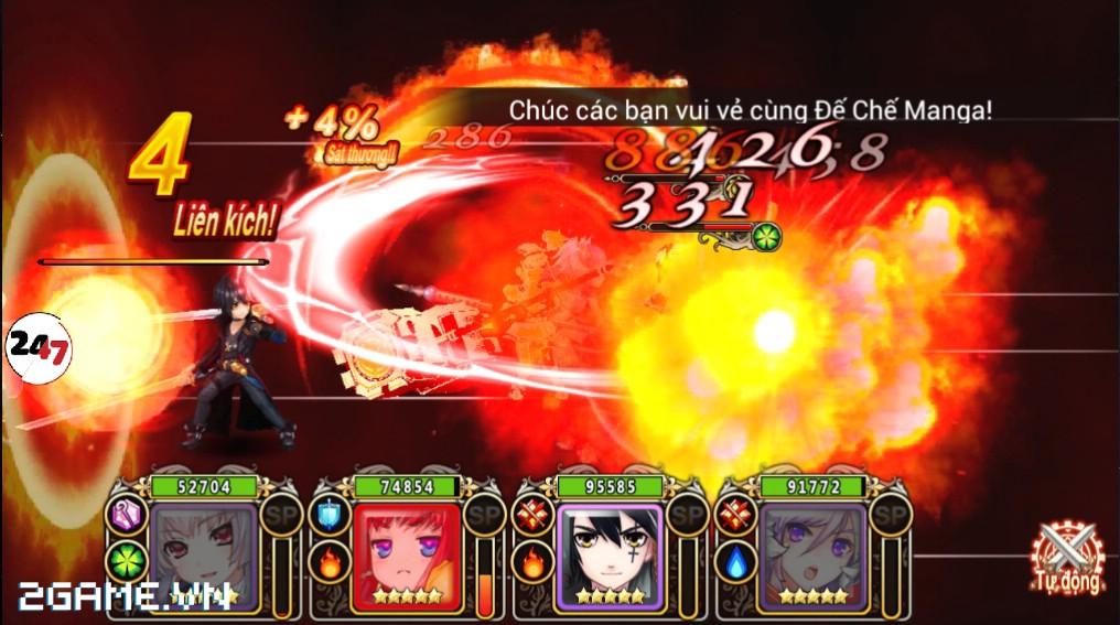 Đế Chế Manga có cơ chế chiến đấu theo lượt cao độ 2