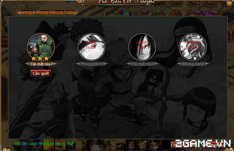 Cuồng Phong Naruto: Hướng dẫn hệ thống Phó bản 1