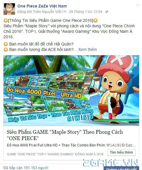 Lộ diện NPH Việt đứng sau tựa game One Piece ZeZe 9