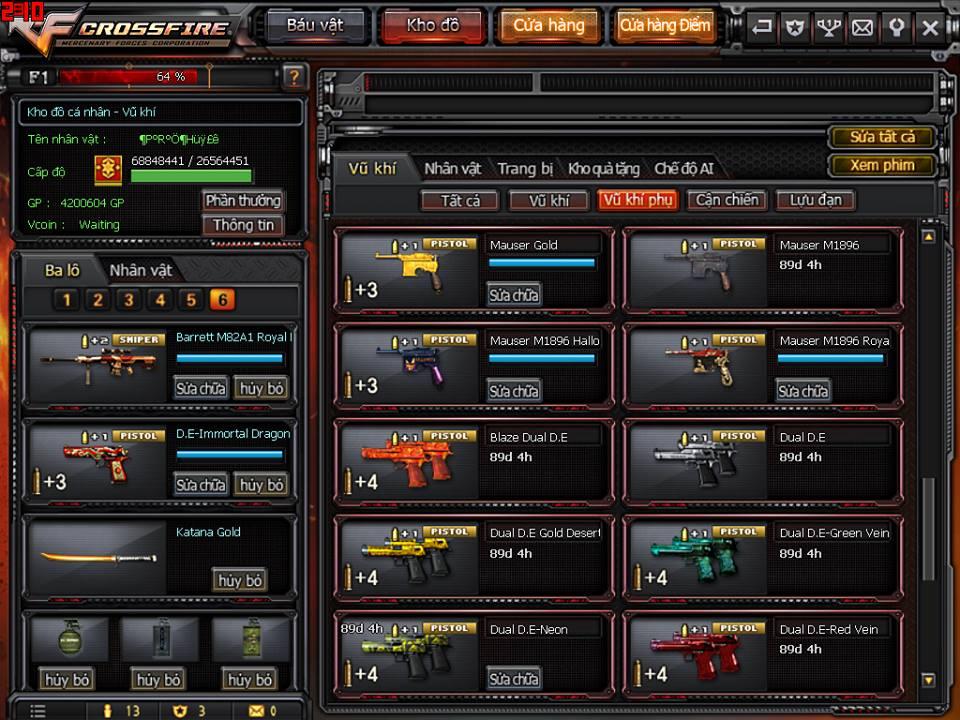 Game thủ Đột Kích bất ngờ được VTC Game tặng full kho súng lục báu vật 10