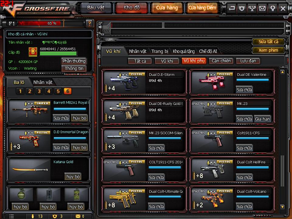 Game thủ Đột Kích bất ngờ được VTC Game tặng full kho súng lục báu vật 11