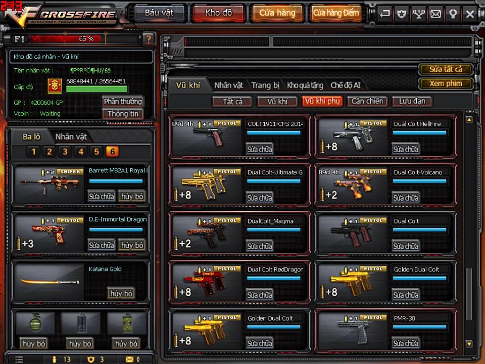 Game thủ Đột Kích bất ngờ được VTC Game tặng full kho súng lục báu vật 12
