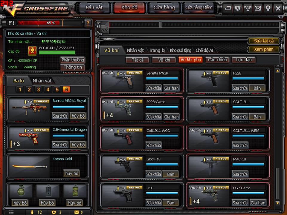 Game thủ Đột Kích bất ngờ được VTC Game tặng full kho súng lục báu vật 13