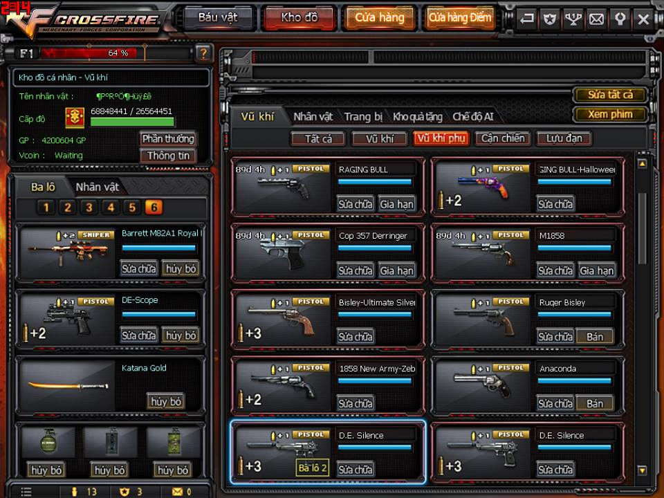 Game thủ Đột Kích bất ngờ được VTC Game tặng full kho súng lục báu vật 2
