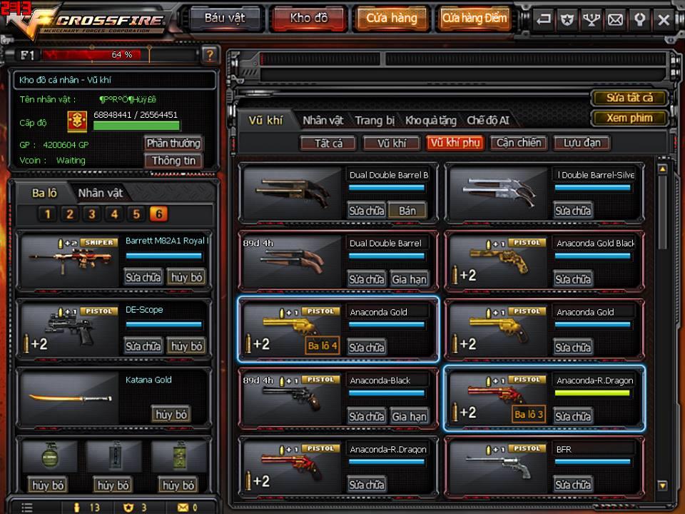 Game thủ Đột Kích bất ngờ được VTC Game tặng full kho súng lục báu vật 3