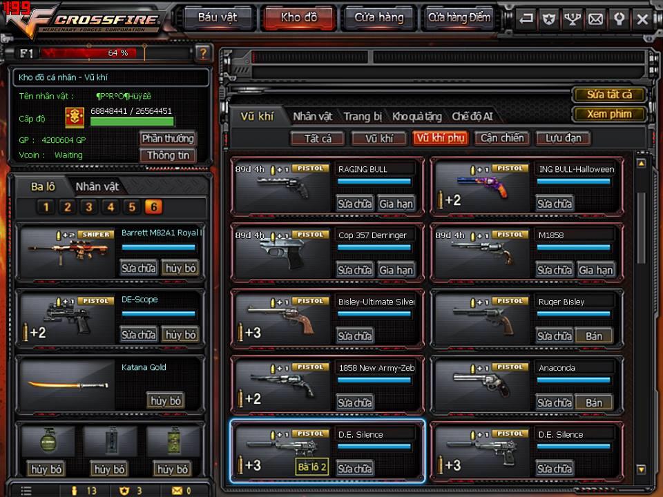Game thủ Đột Kích bất ngờ được VTC Game tặng full kho súng lục báu vật 4