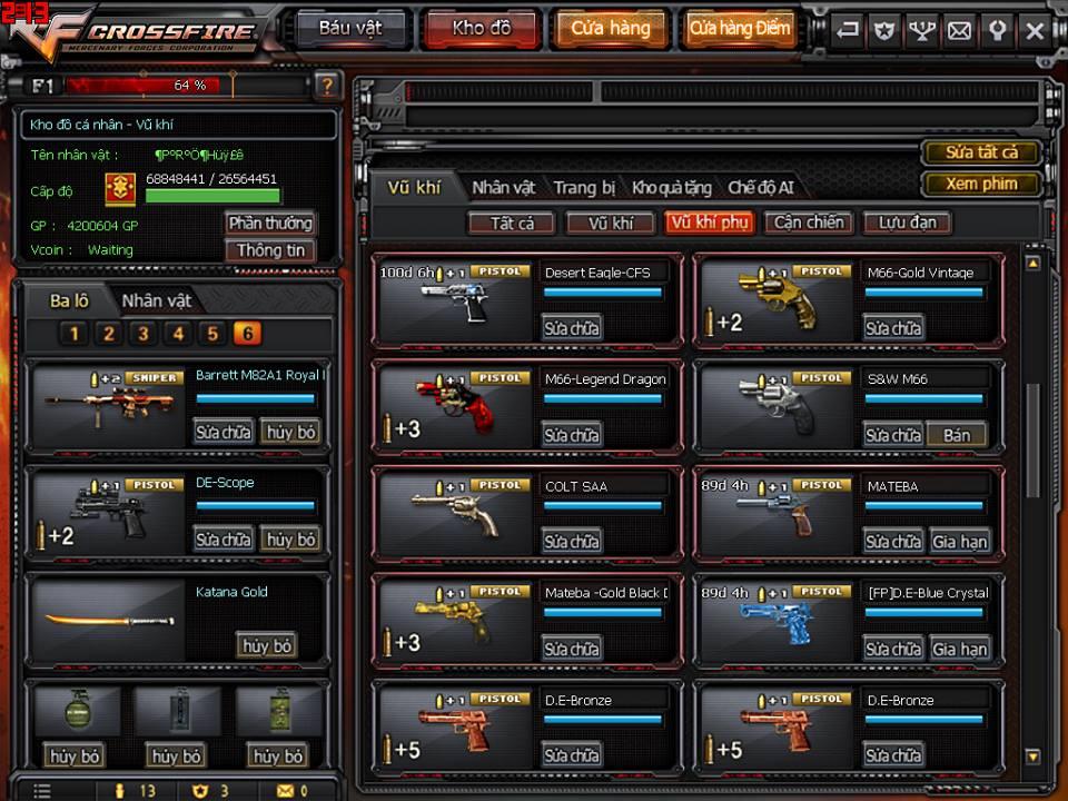 Game thủ Đột Kích bất ngờ được VTC Game tặng full kho súng lục báu vật 6