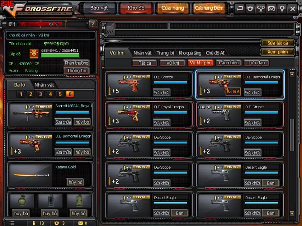 Game thủ Đột Kích bất ngờ được VTC Game tặng full kho súng lục báu vật 7