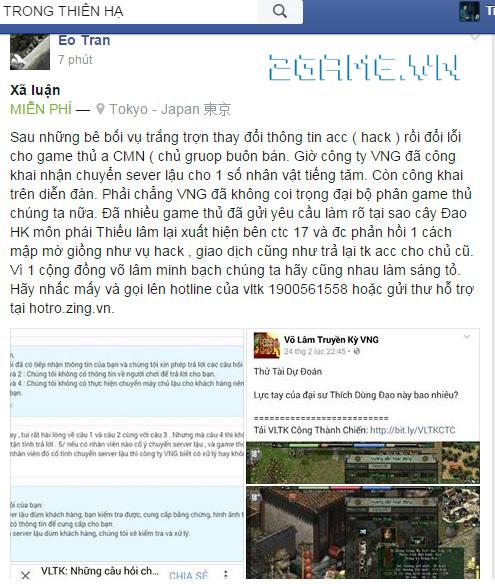 Lại lùm xùm chuyện game Võ Lâm Truyện Kỳ ưu ái đại gia, tặng đồ khủng xài độc quyền 3