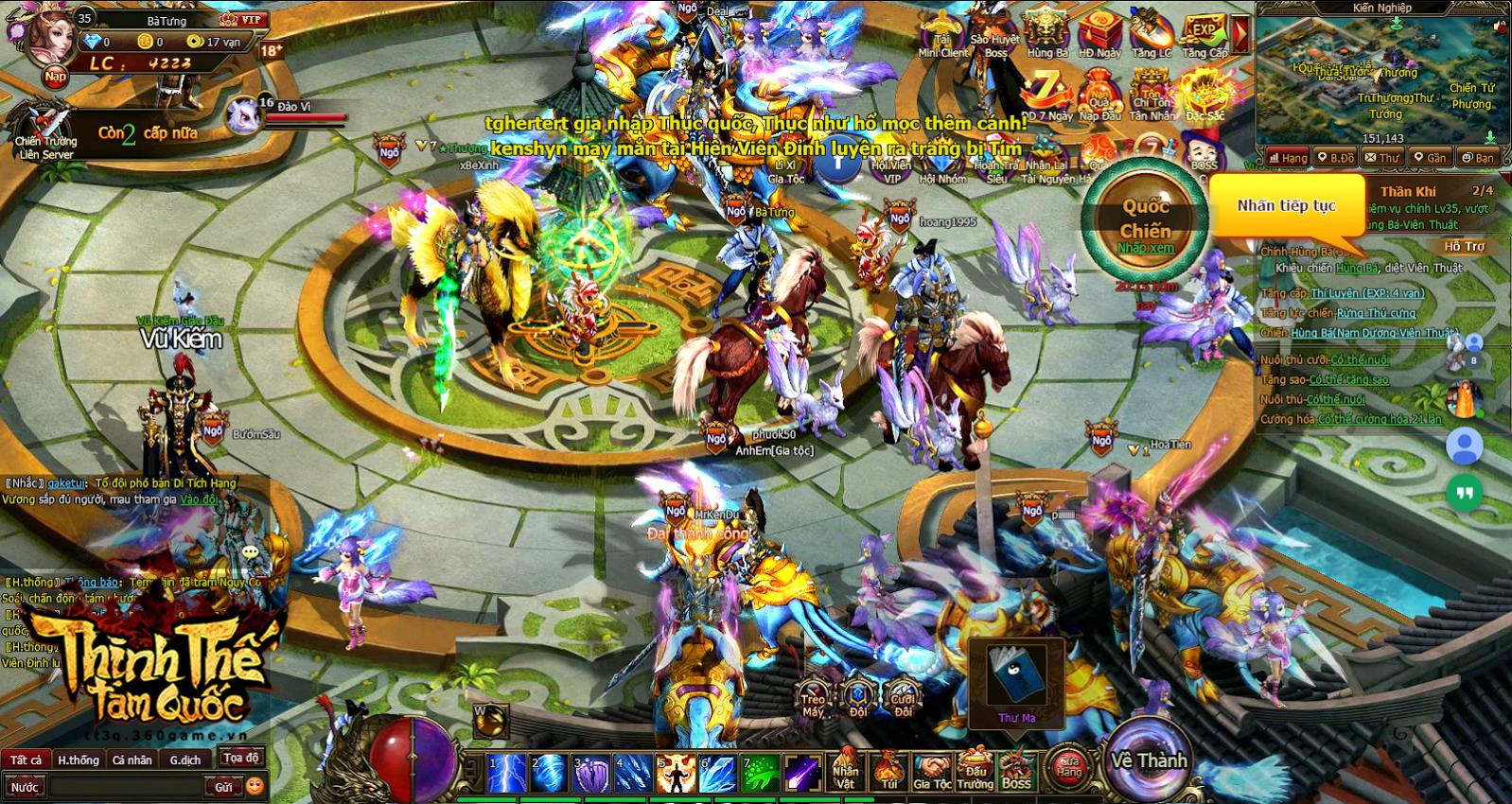 Bà Tưng cũng lần mò chơi webgame Thịnh Thế Tam Quốc 3
