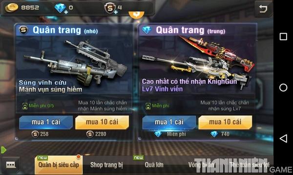 Hướng dẫn cách độ súng trong game Tập Kích mobile 4