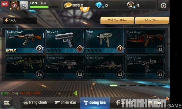 Hướng dẫn cách độ súng trong game Tập Kích mobile 7