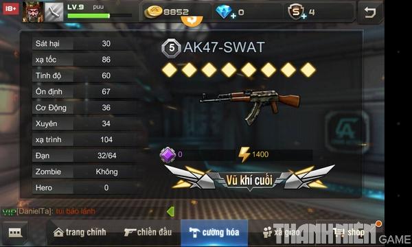 Hướng dẫn cách độ súng trong game Tập Kích mobile 8