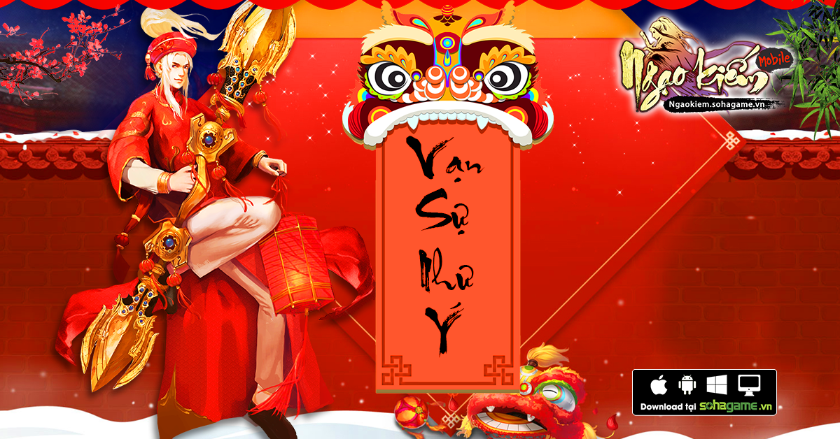 Game thủ Việt nô nức diện áo dài, đổi bánh chưng trong Ngạo Kiếm Mobile 0