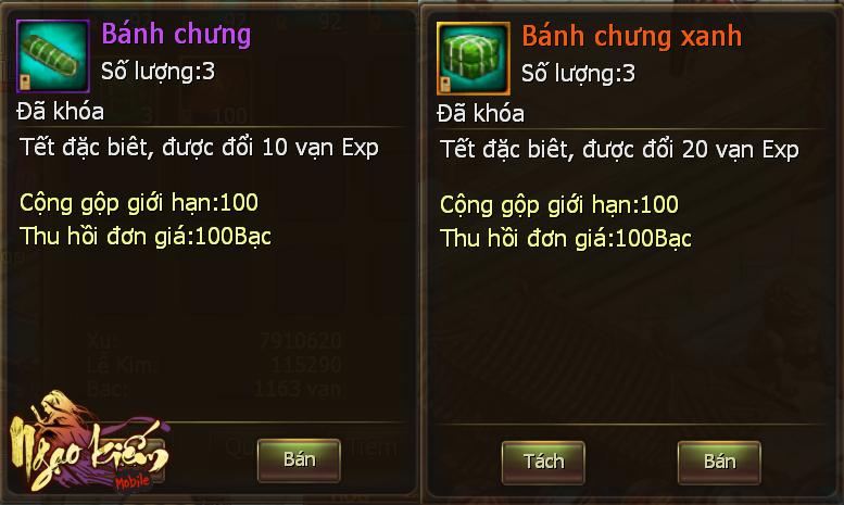 Game thủ Việt nô nức diện áo dài, đổi bánh chưng trong Ngạo Kiếm Mobile 1