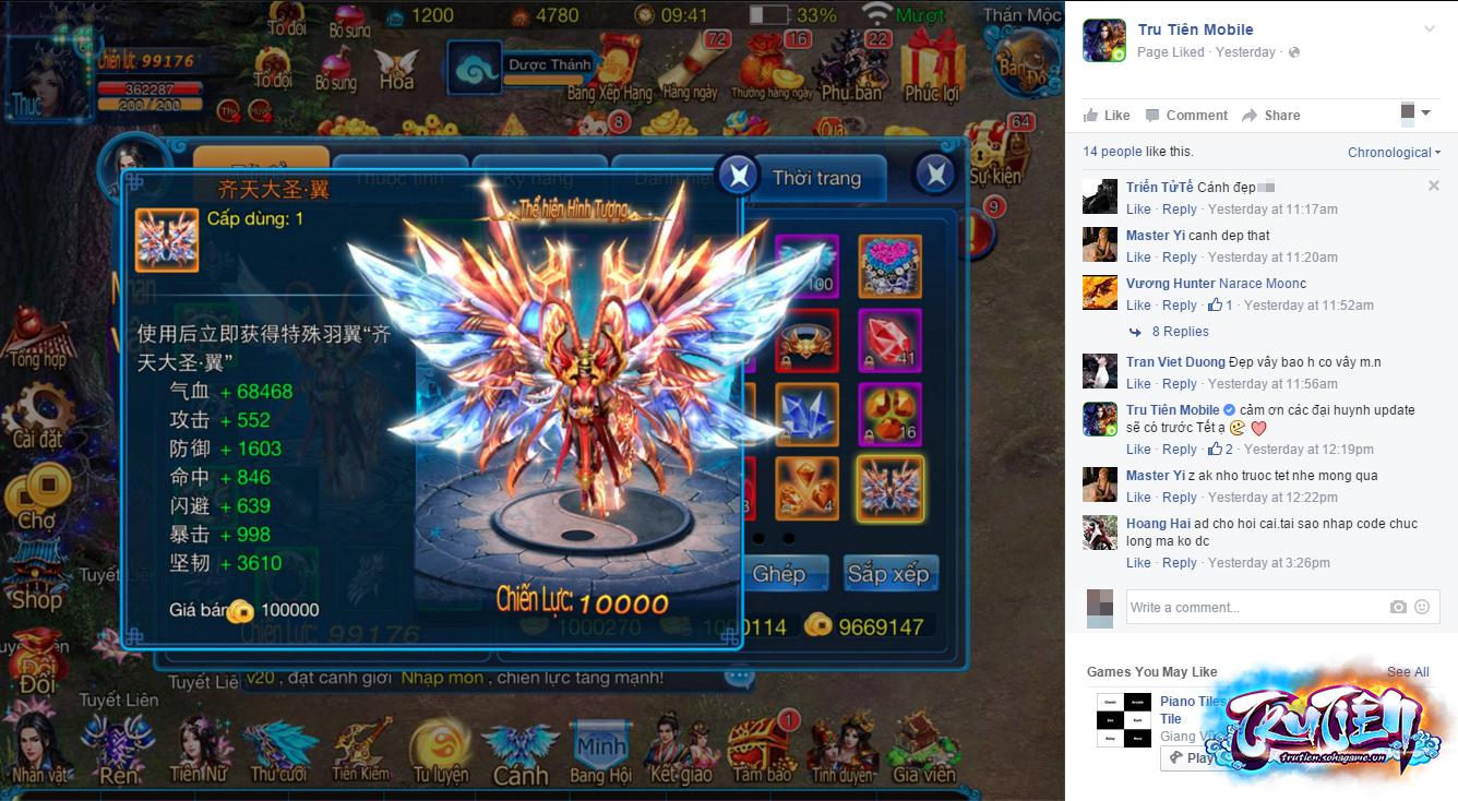 Tru Tiên Mobile cho phép người chơi hóa Tề Thiên Đại Thánh đón chào năm Khỉ 6