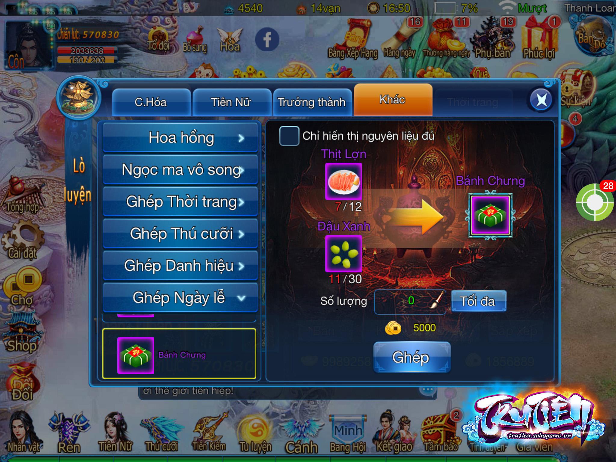 Tru Tiên Mobile cho phép người chơi hóa Tề Thiên Đại Thánh đón chào năm Khỉ 7
