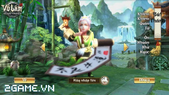 Cận cảnh 4 nhân vật chính trong gMO 3D Võ Lâm Ngoại Truyện Mobile 1