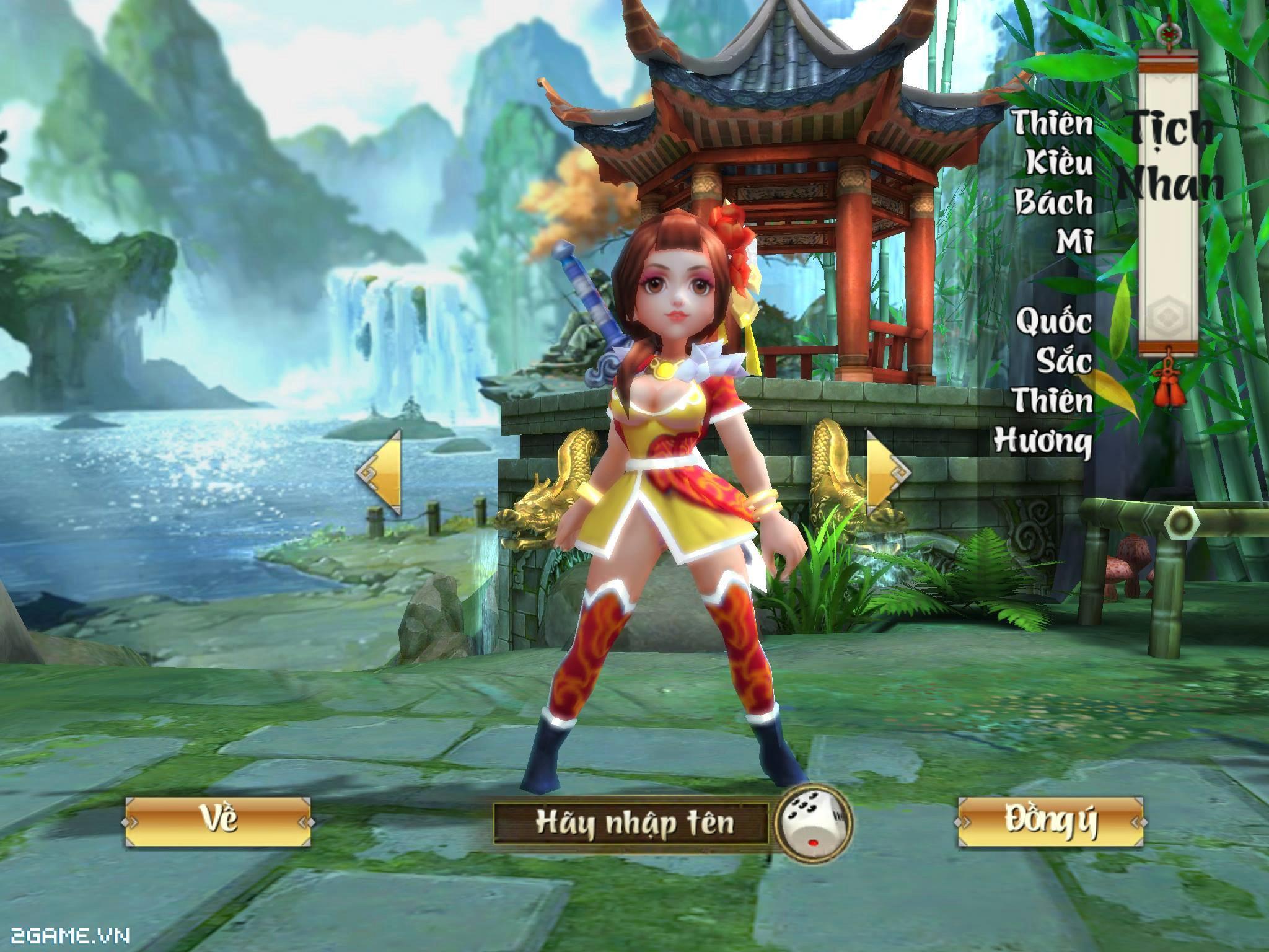 Cận cảnh 4 nhân vật chính trong gMO 3D Võ Lâm Ngoại Truyện Mobile 3