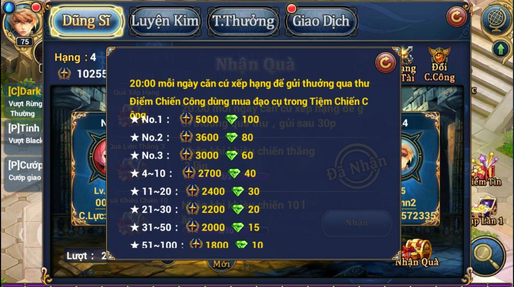 King Online - Tìm hiểu tính năng Đấu Trường 5