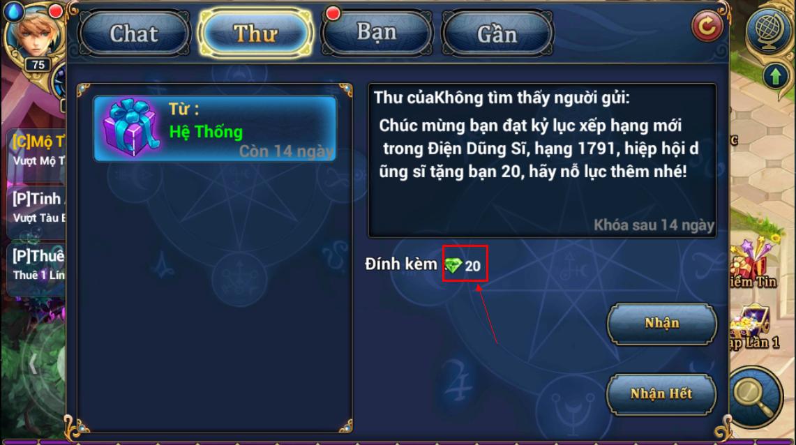 King Online - Tìm hiểu tính năng KNB - Ruby miễn phí 5